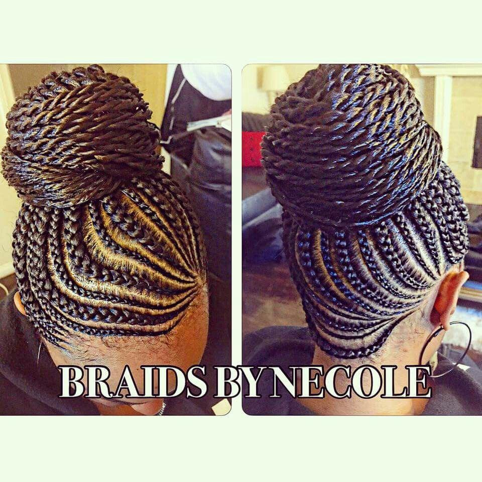 braided updo hair