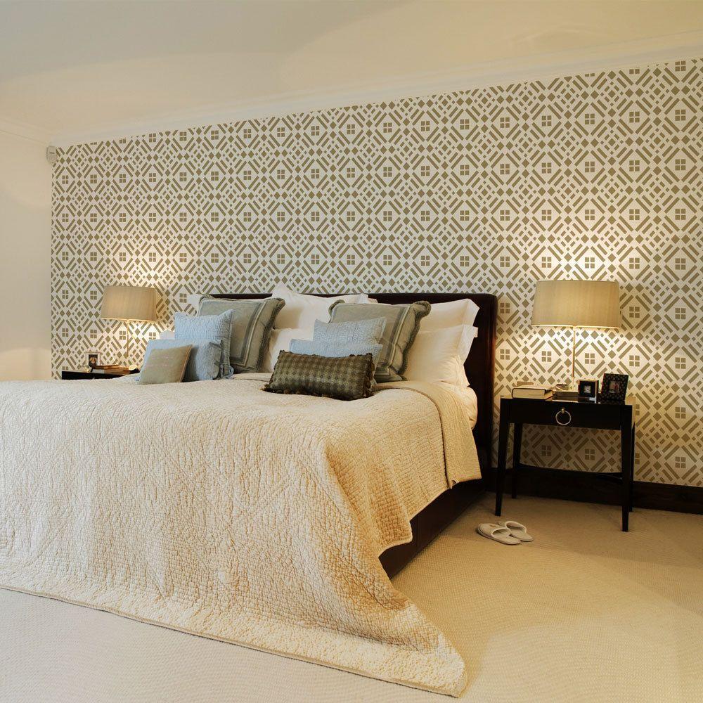 Sd stencil carr colecci n sd stencils geom tricos - Papel tapiz para pared ...