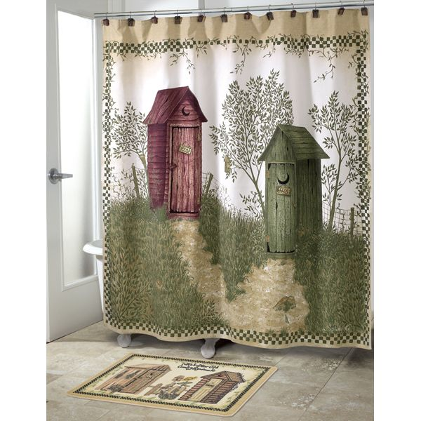 Outhouses Shower Curtain By Avanti | Outhouse Decor | Pinterest ...
