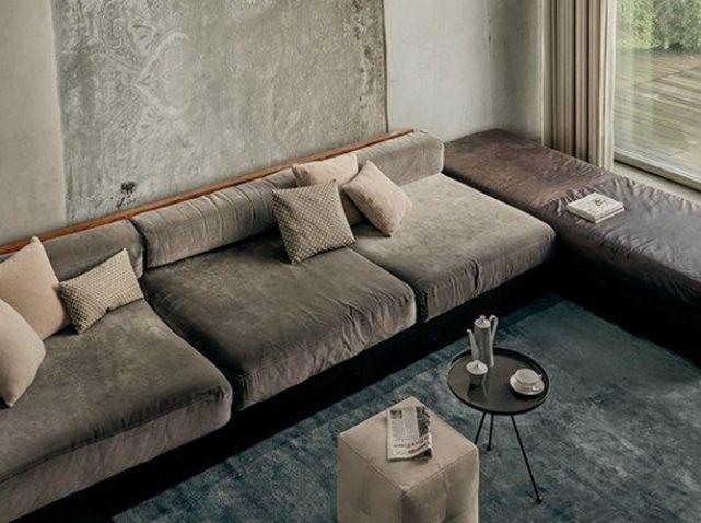 les plus beaux salons rep r s sur pinterest pinterest canap gris velours et canap s. Black Bedroom Furniture Sets. Home Design Ideas