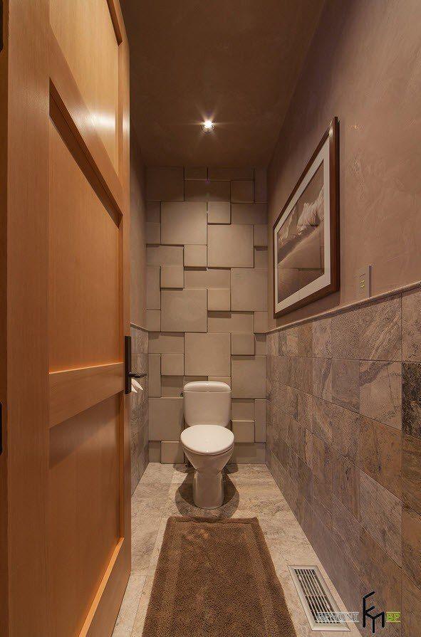 Большой выбор плитки для маленького туалета