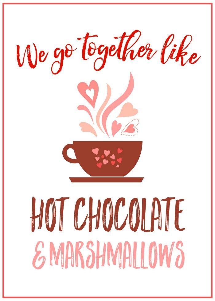 Valentine's Day Hot Chocolate Bar Printables #hotchocolatebar