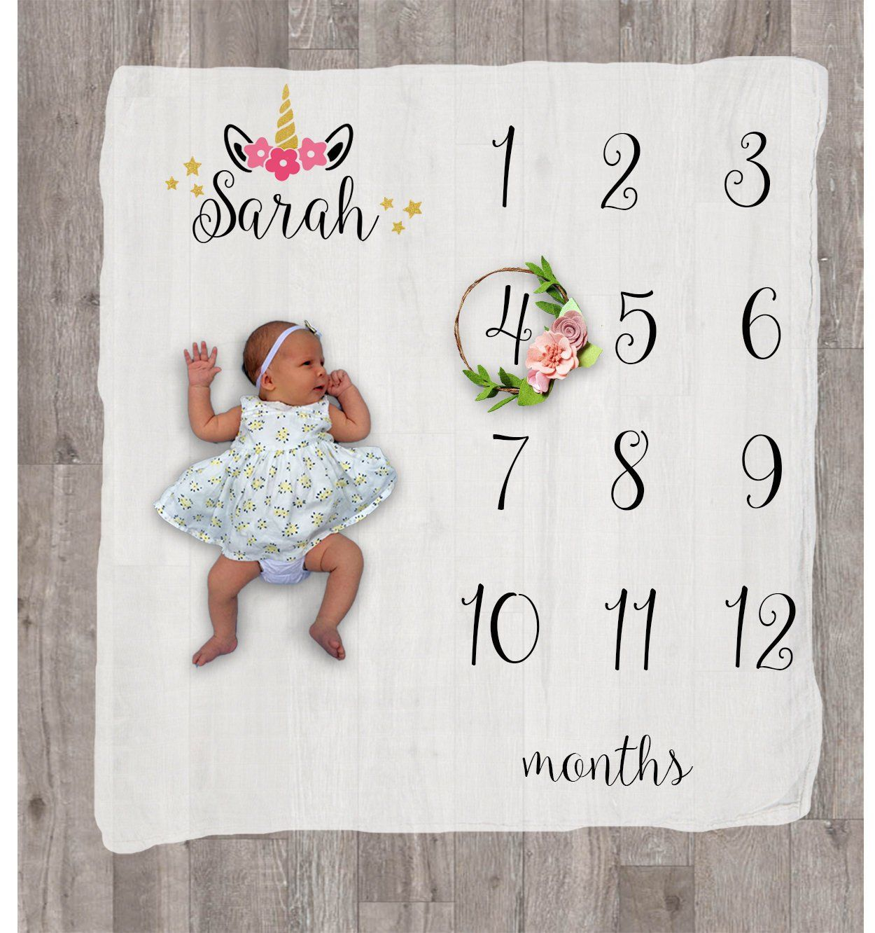 Monthly Baby Blanket Girl