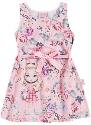62de4ab723 Vestido Infantil Jolie Brandili Rosa - Brandili