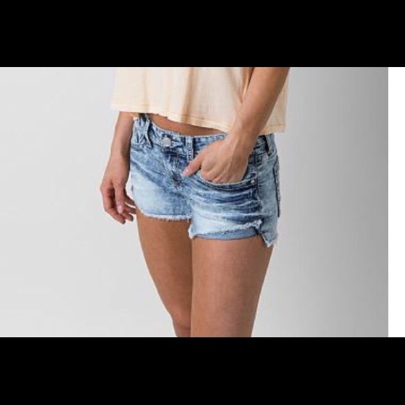"""BKE. Stella Distressed Light Stitch Jean Shorts BKE. Meet """"Stella"""". Sexy Cut off Jean Shorts. Front Button Closure. Factory Frayed and distressed. CANNOT BE BUNDLED (first pic to show fit) BKE Shorts Jean Shorts"""