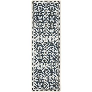 Shop for Safavieh Handmade Cambridge Moroccan Navy Blue/ Ivory Rug (2'6 x 14'). Get free shipping at Overstock.com - Your Online Home Decor Outlet Store! Get 5% in rewards with Club O!