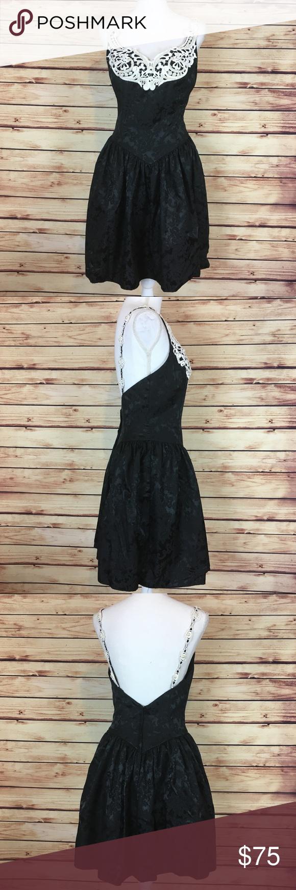 Vintage s prom dress scott mcclintock black s prom tulle