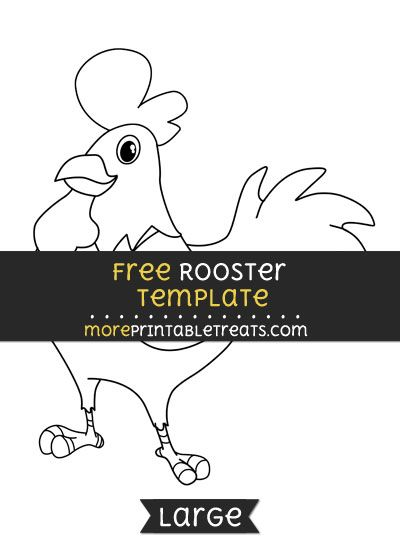 Free Rooster Template - Large | Shapes and Templates Printables ...