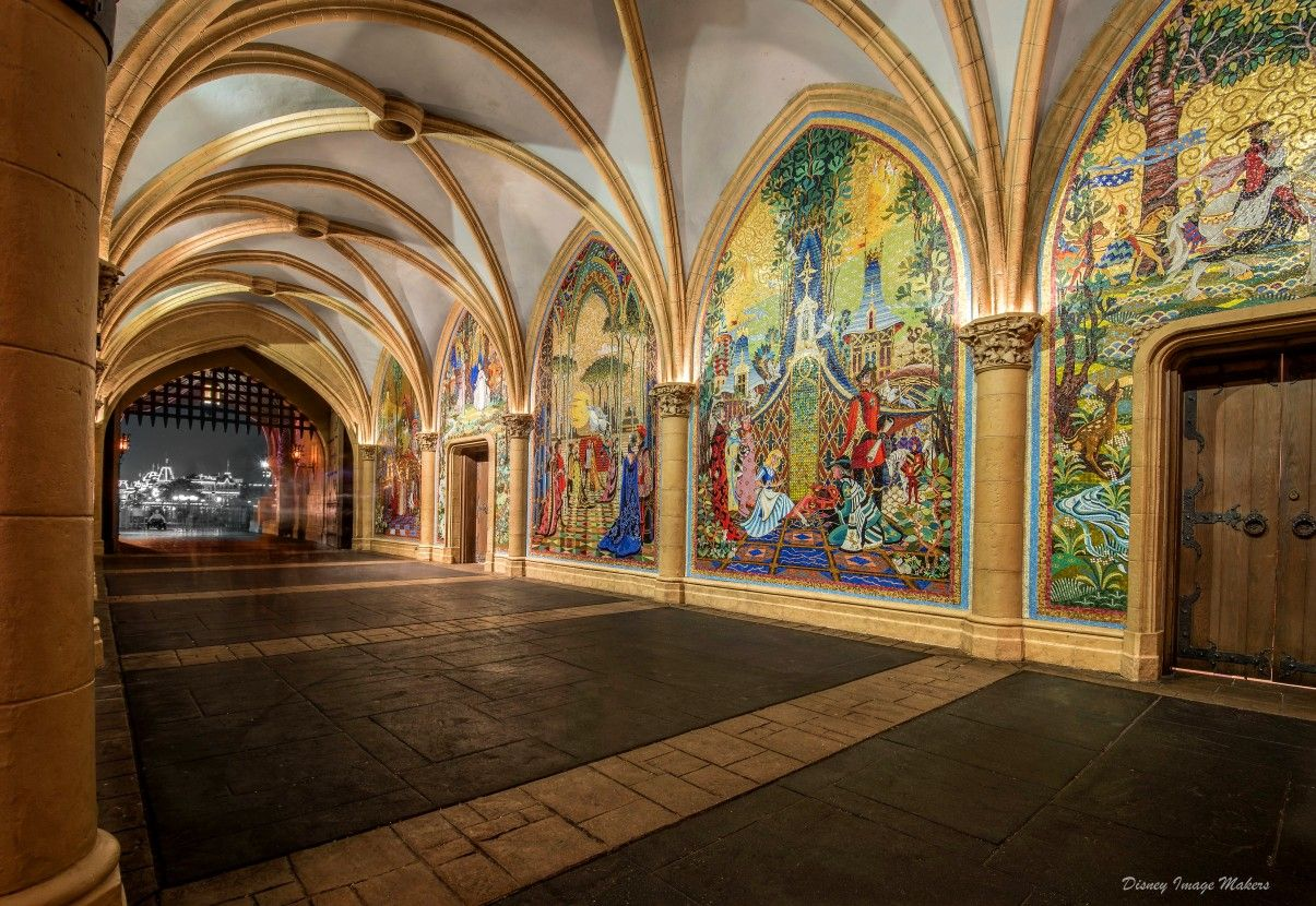 Magic Kingdom - The beautiful murals inside Cinderella ...