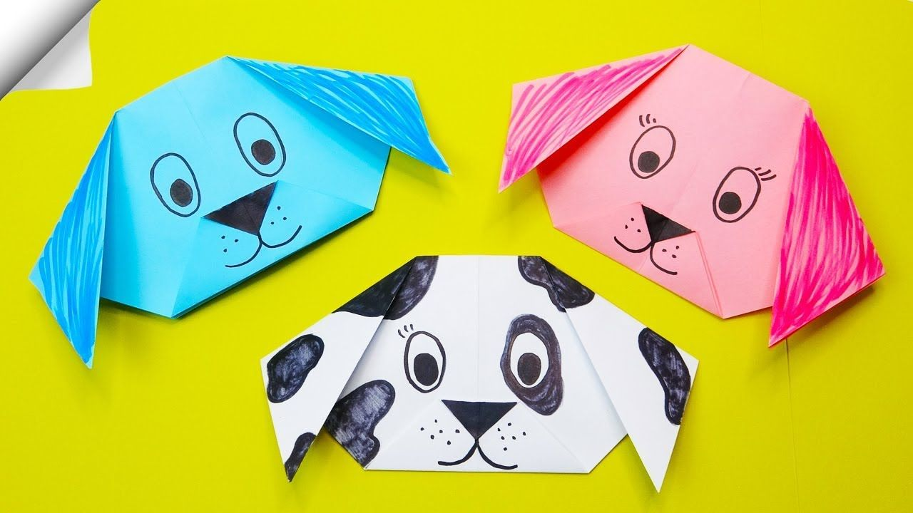 Photo of Origami DOG easy | DIY paper crafts Origami DOG face