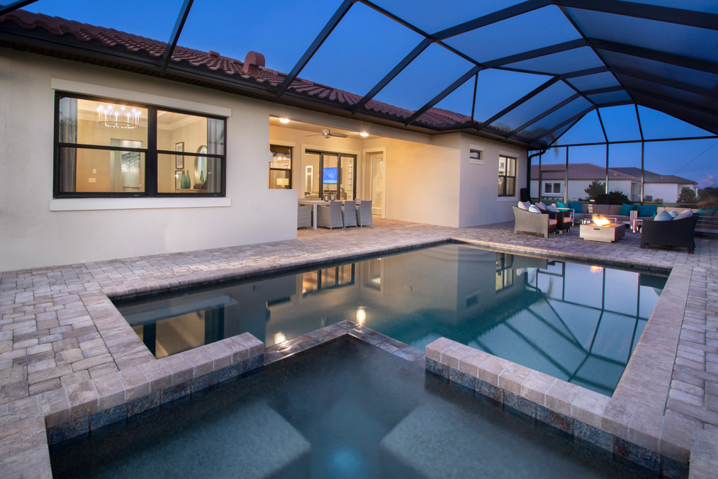 Turn Your Outdoor Space Into An Oasis Like This Boretto Model In Sanctuary Cove It Features A Spacious Lana Fire Pit Seating Area Seating Area Outdoor Kitchen