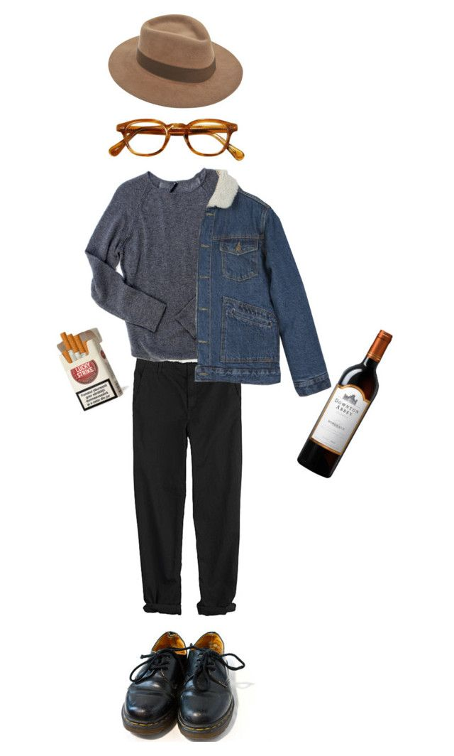 """""""Кир"""" by classicalnothing ❤ liked on Polyvore featuring мода, GG 750, Endovanera, Larose и Dr. Martens"""