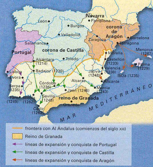 """La """"Reconquista"""" a principios del siglo XIII"""