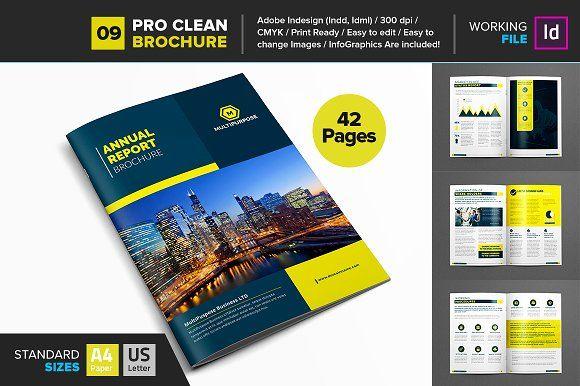 Clean Corporate Annual Reportv9 Brochure Template Layout Design