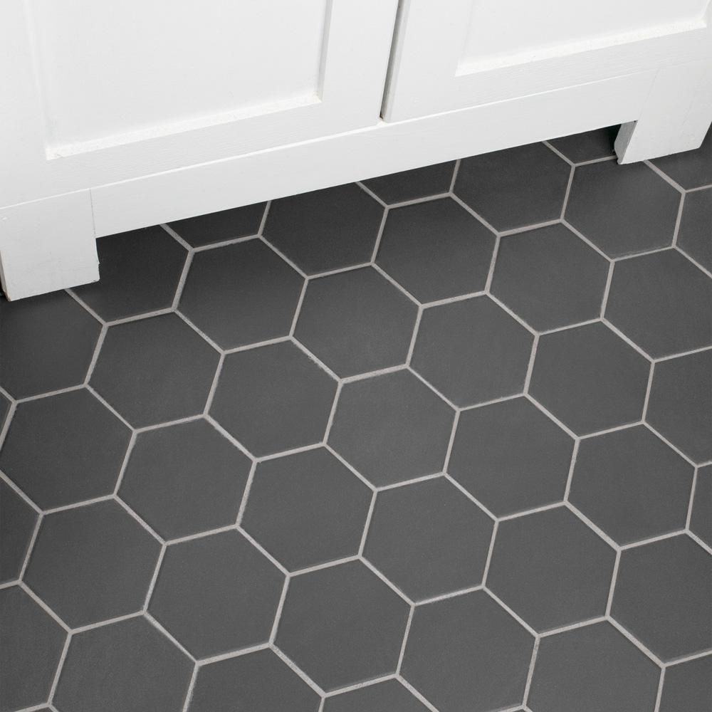 Merola Tile Gotham Super Hex Black 10 In X 11 1 2 In X 6mm Unglazed Porcelain Mosaic Tile Fxlg4hbk The Home Depot Porcelain Mosaic Tile Porcelain Mosaic Black Hexagon Tile