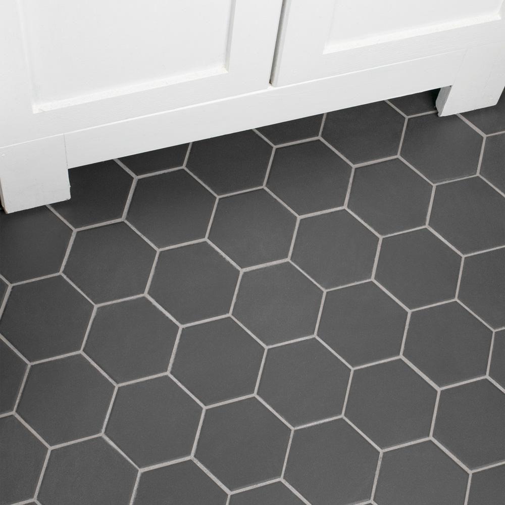 merola tile gotham super hex black 10