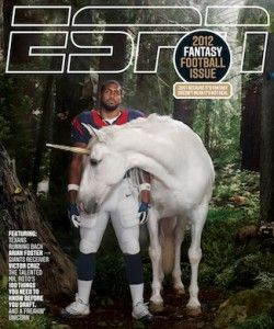 a unicorn on a sports magazine: love it