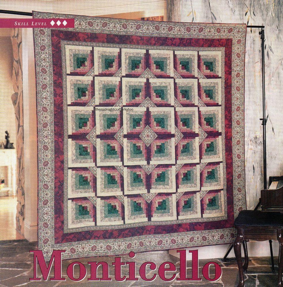 Monticello Quilt Pattern Pieced JB | Log Cabin Quilts | Pinterest ... : jb quilting - Adamdwight.com
