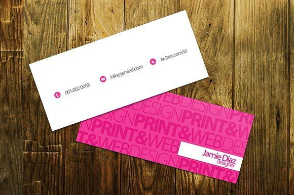 Typo mini business card by printdesignbundle on creativemarket typo mini business card templates fresh design for your new business card comes in 2 colors pink and bluecludes fully editable by printdesignbundle cheaphphosting