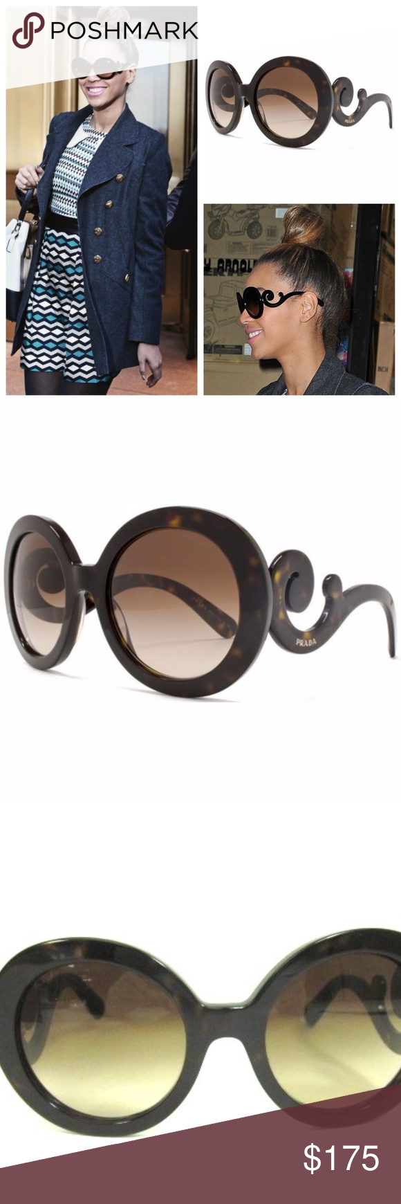 80ebd12dda42 PRADA Minimal Baroque Tortoise Shell Sunglasses Authentic Gorgeous preloved  condition Prada PR 27NS - Minimal Baroque