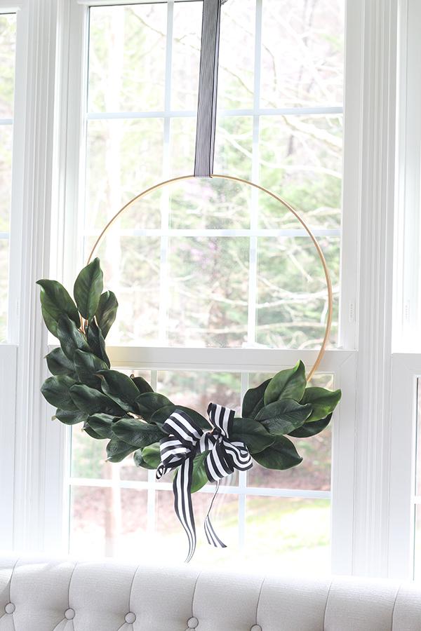Photo of Magnolia leaf tire wreath