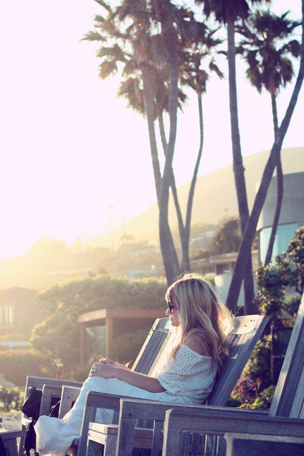 sitting pretty in the California sunshine