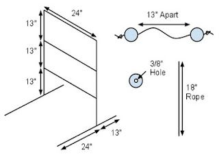 Build Your Own Ladder Golf Set Using Official Dimensions Ladder