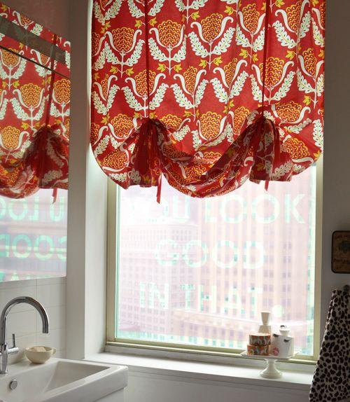 gorgeous custom window cover - looks very CityCraft (via Design Sponge)