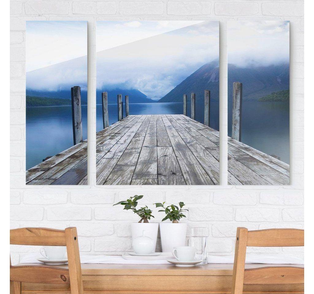 Bilderwelten bilderwelten glasbild 3 teilig nelson lakes