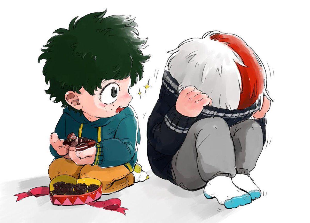 Baby Deku And Todoroki My Hero Academia Shouto My Hero