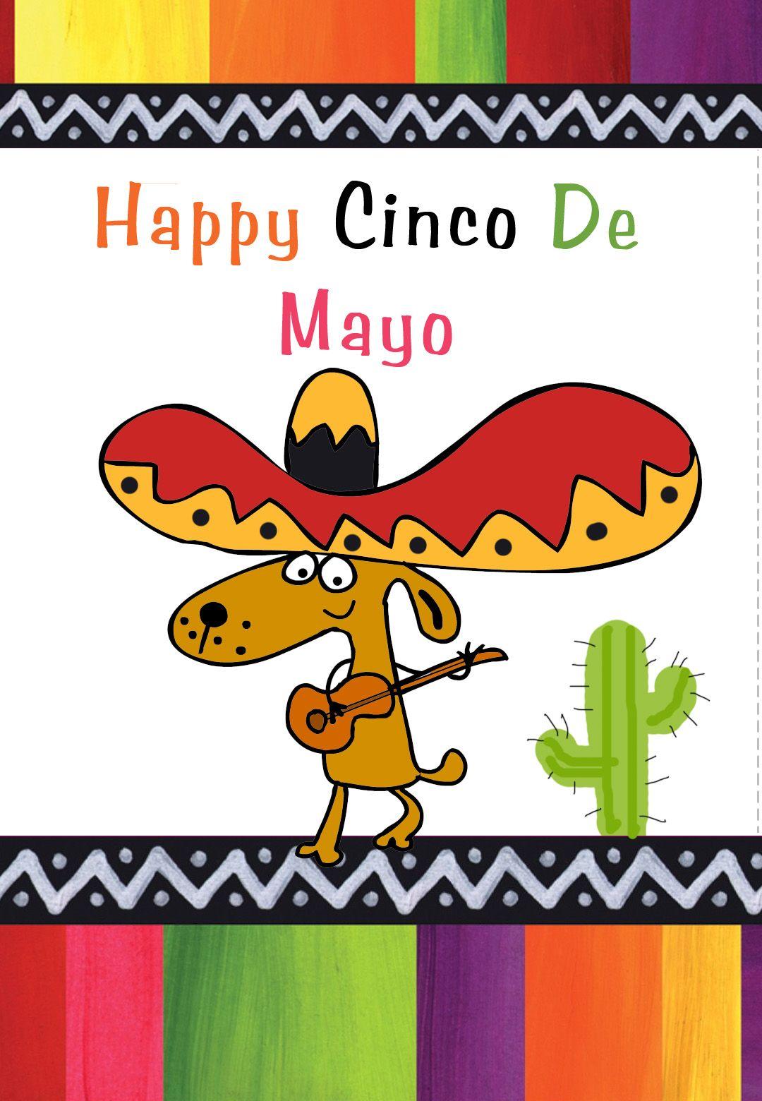 Free Printable Happy Cinco De Mayo Greeting Card Ciincodemayo