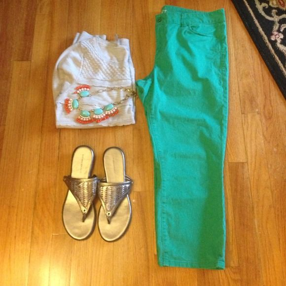 "Selling this ""LOFT Modern Skinny Crop teal green capris Sz 14"" in my Poshmark closet! My username is: divainjeans. #shopmycloset #poshmark #fashion #shopping #style #forsale #LOFT #Pants #modern #green #capri #cropped #teal #sknny #modern #anntaylor"