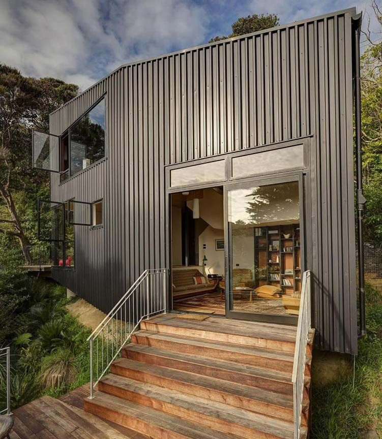 Modern Metal Homes] Awesome Modern Look Metal Farmhouse Hq Plans ...