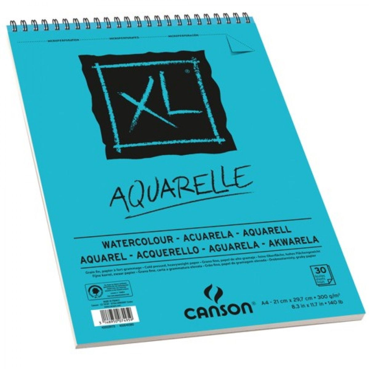 Bloco De Papel Canson Xl Aquarelle 300g M A3 Papel Aquarela