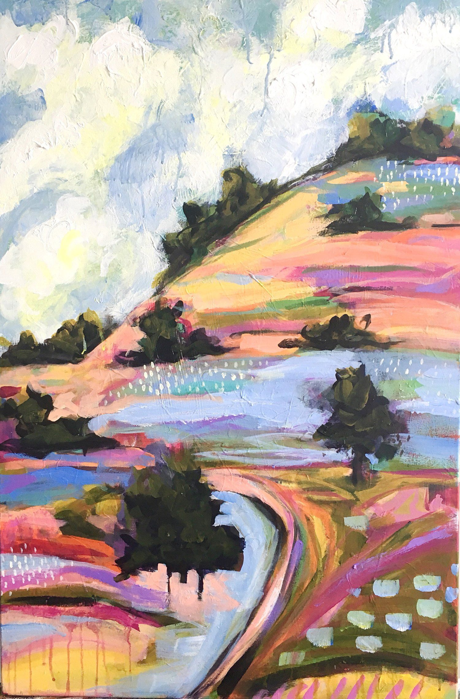 Colorful Abstract Landscapes By Nina Ramos Colorful Abstract Landscapes By Nina Ramos Nina Ramos Art In 2020 Abstract Abstract Landscape Painting Abstract Landscape