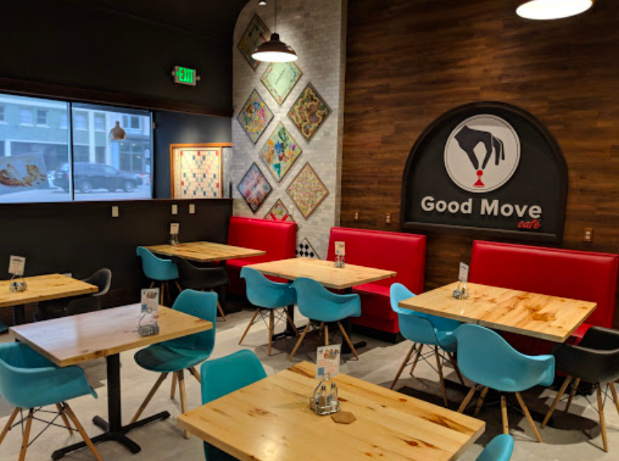 The Board Game Cafe In Utah That S Oodles Of Fun Cafe Decor Board Game Cafe Game Cafe