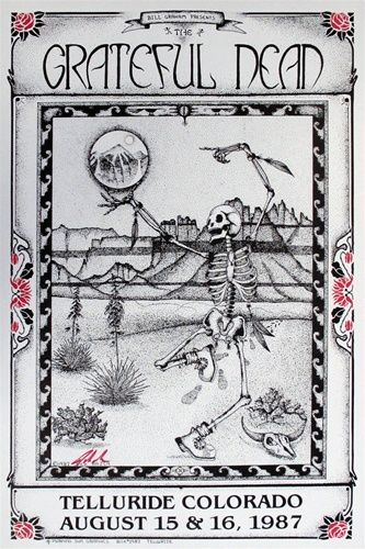 Grateful Dead 1987...Max's first GD show...have the poster on our wall. First show ever!
