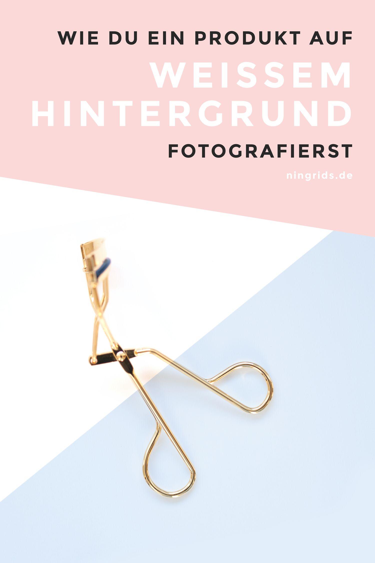 In diesem Foto Tutorial erfährst du, wie du ein Produkt auf einem weißen Hintergrund fotografierst.