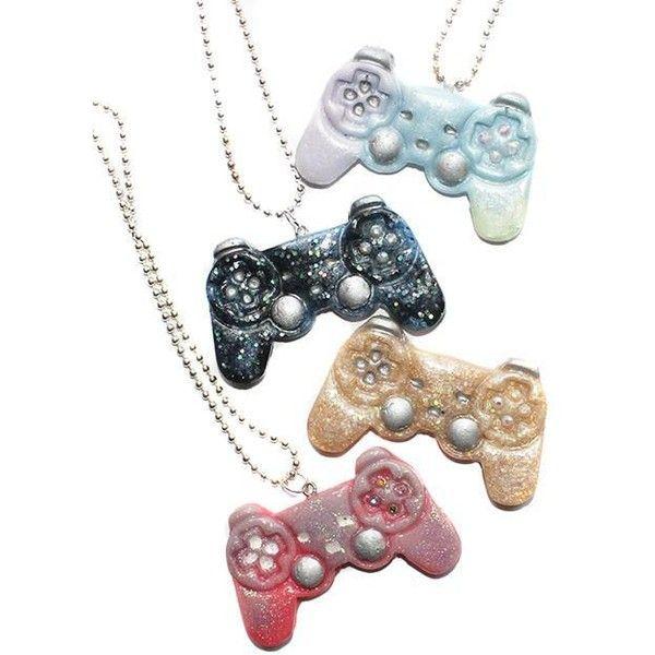 Kawaii gamer play station remote controller necklace pendant 650 kawaii gamer play station remote controller necklace pendant 650 liked on polyvore featuring aloadofball Choice Image