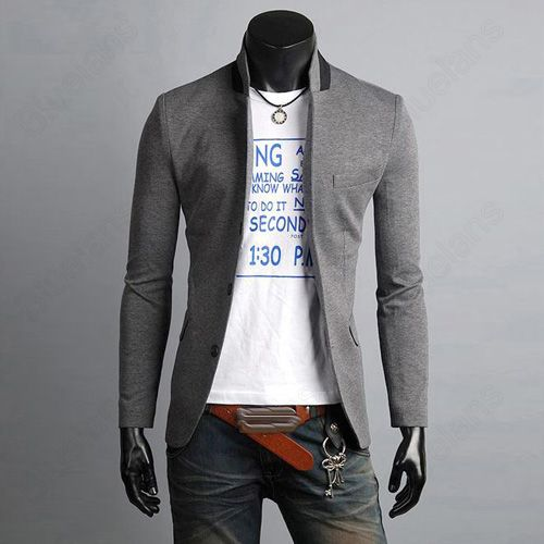 Korean Mens Slim Fit Premium Button Jacket China Collar Short ...