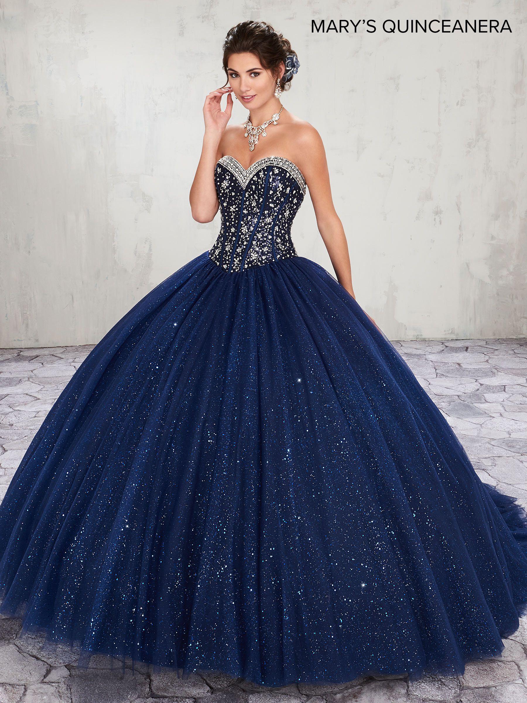 Vestidos de 15 azul noche