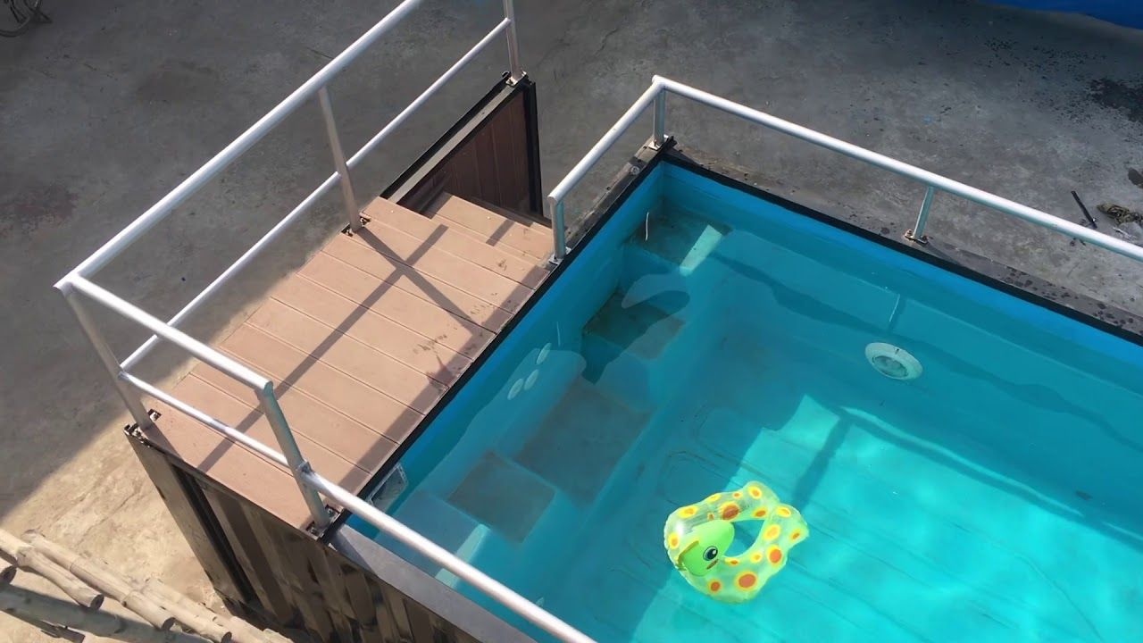Container Swimming Pool In India Youtube Swimming Pools Pool Container Pool