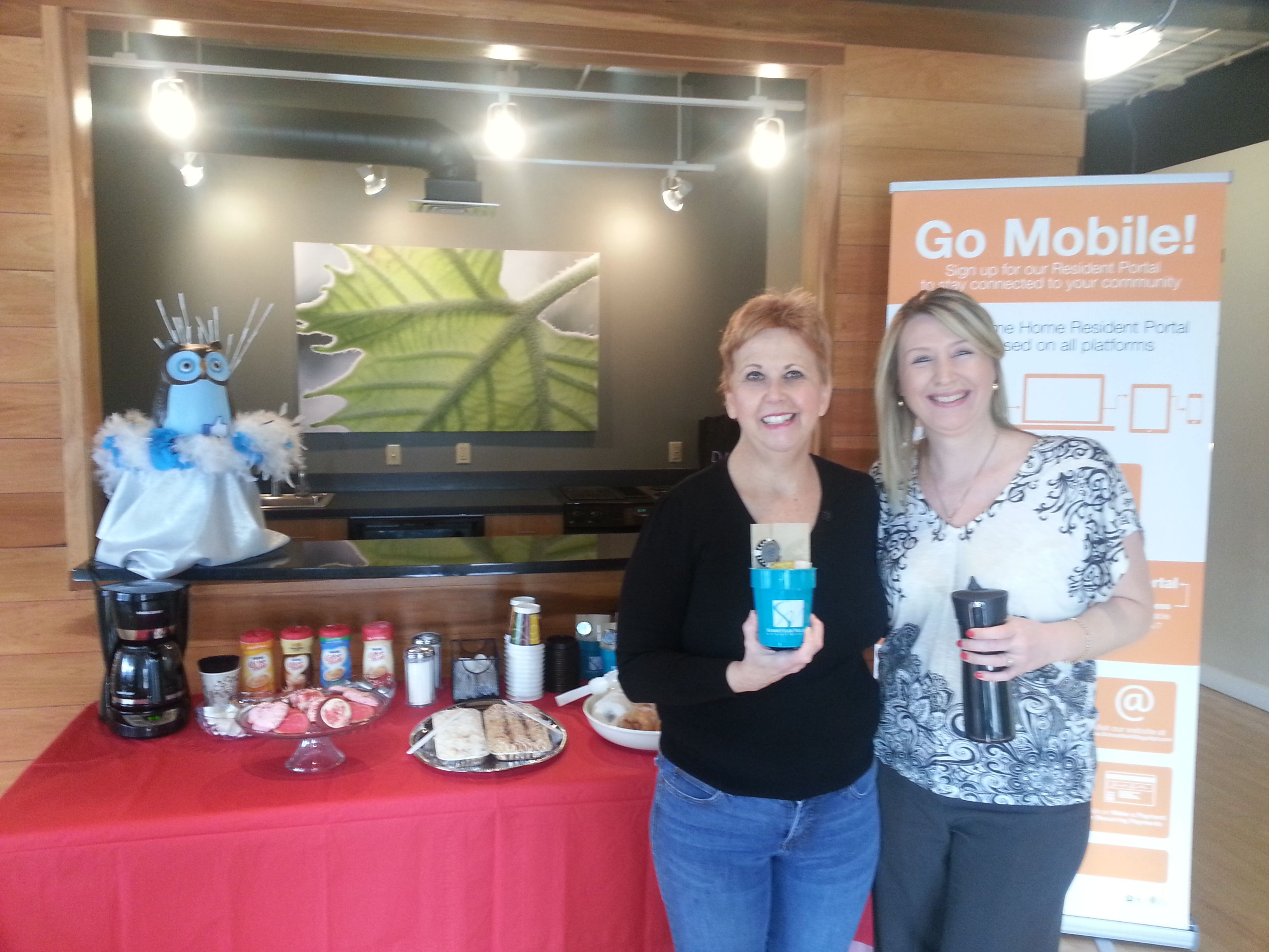 #1 out 10 residents who received a Starbuck's gift card and Dare 2 Care Cup filled with additional goodies!