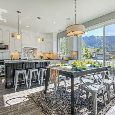 CF Olsen Homes, dining room and kitchen Kitchen Pinterest Open