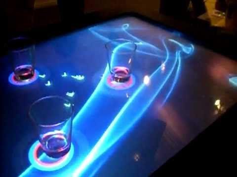 lbar interactive multi user surface bar table youtube
