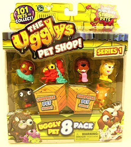 Character The Ugglys Pet Shop Squishy 8 Pack Series 1