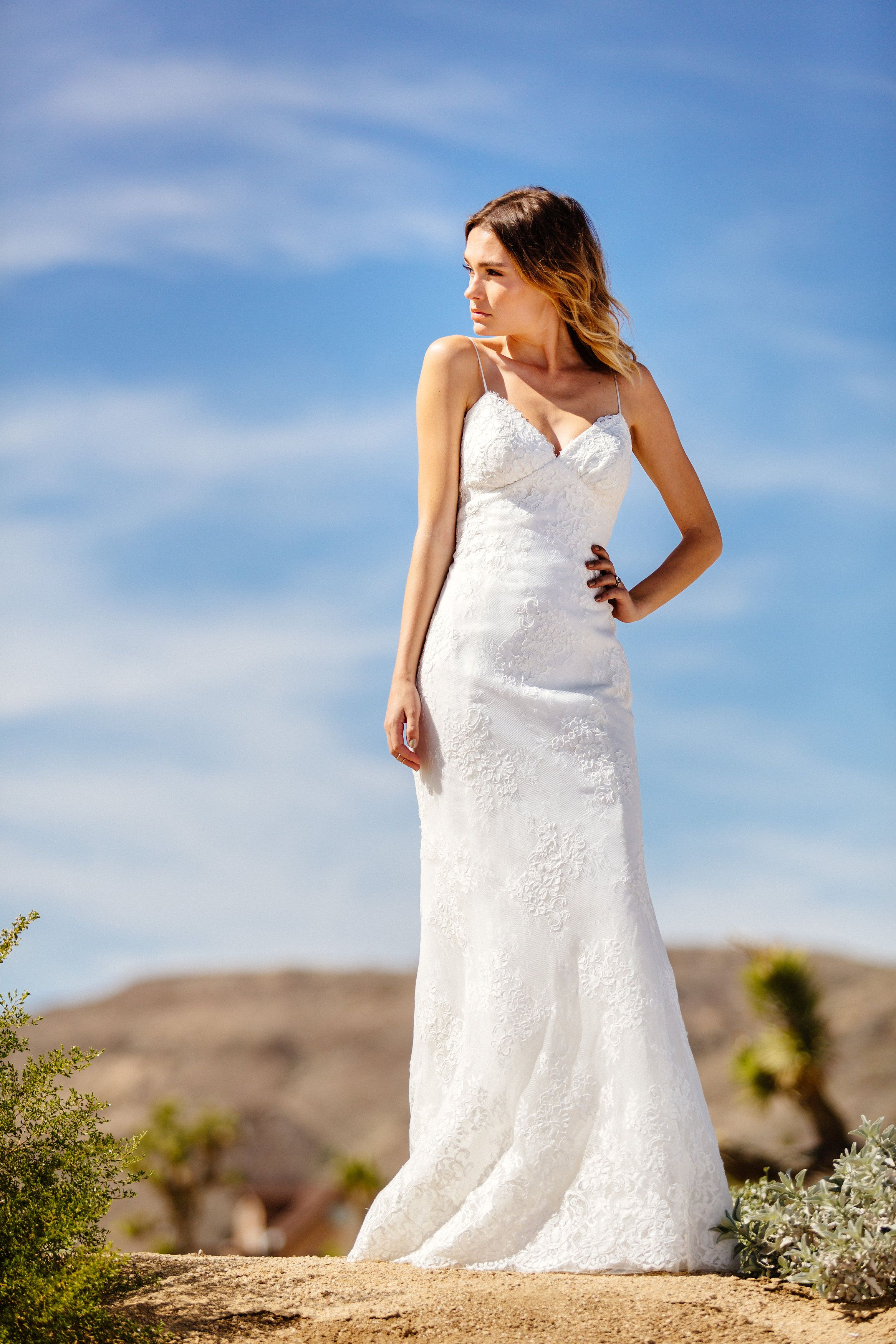 Astrid & Mercedes Riviera gown | desert | wedding inspiration ...