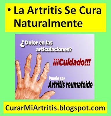 Remedios naturales para curar la artritis en las manos