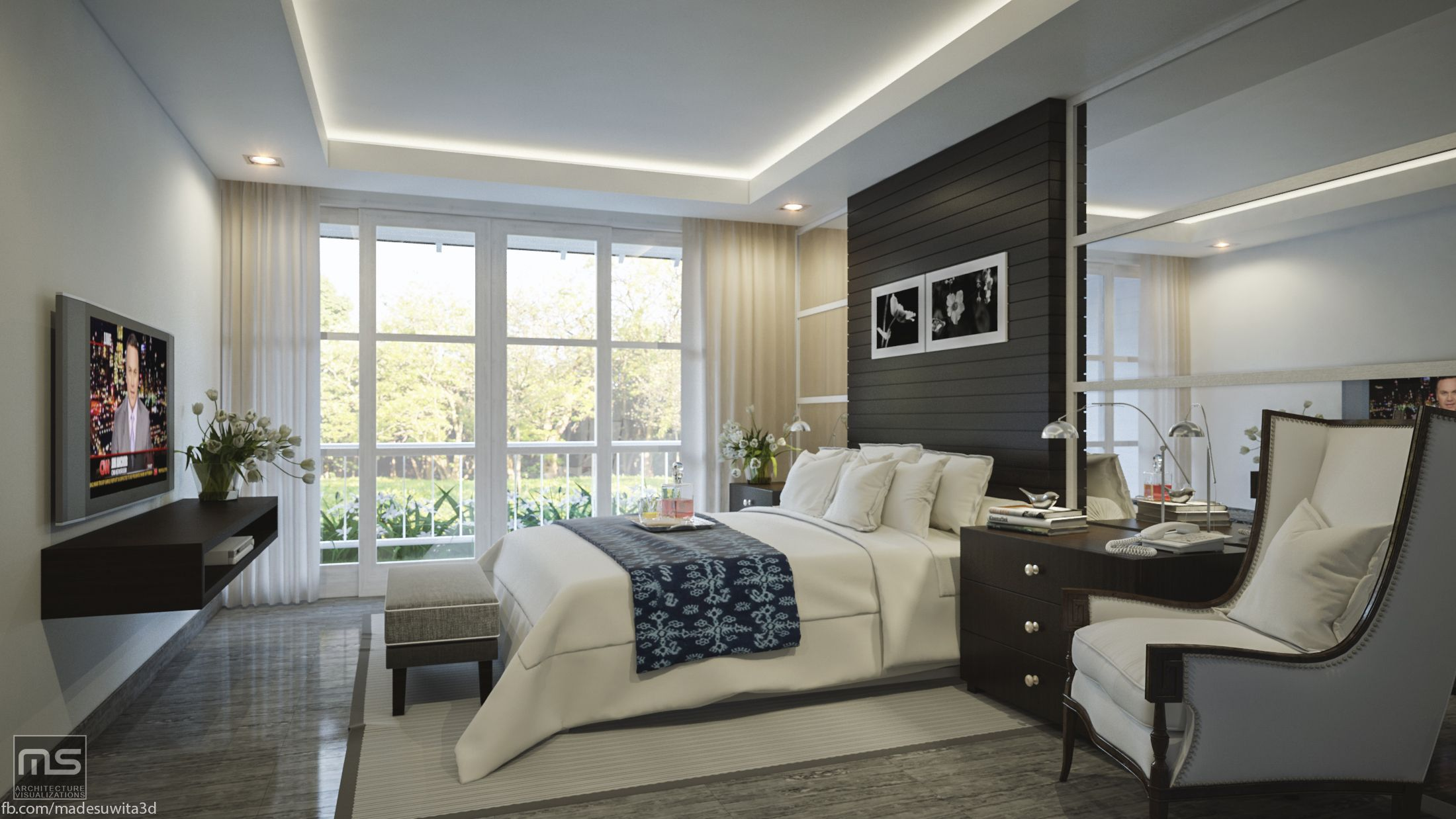 Mix Interior Renderings 3d Model Apartment Bedroom Interior Rendering Done By 3ds Max Vray Interior Design Bedroom Bedroom Interior Modern Bedroom Interior