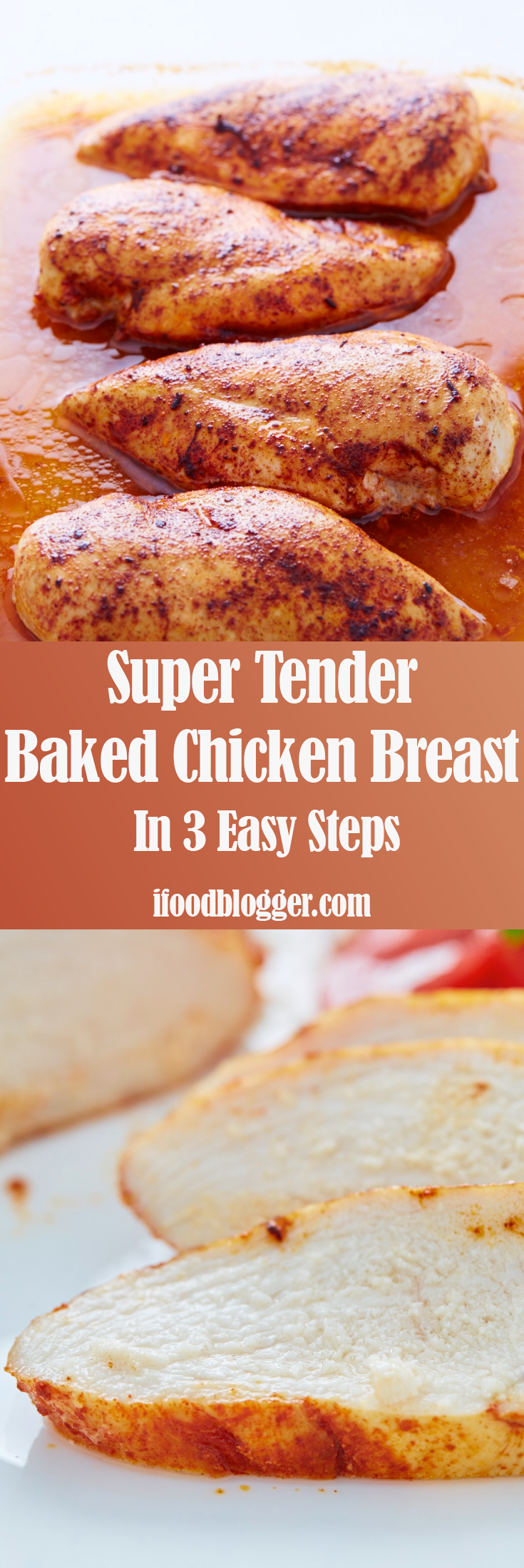 This baked chicken breast is melt-in-your-mouth tender and ...